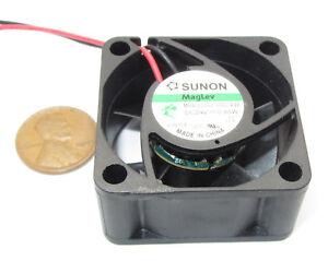 New 40mm Sunon MagLev 24V DC Cooling Fan 22 dB, 6200 RPM, .8W MB40202V2-000U-A99