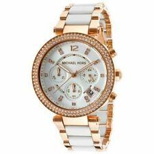 Michael Kors Ladies PARKER Watch - Chronograph Rose/White - MK5774