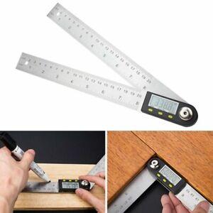200mm Numérique LCD Règle d'angle Rapporteur Goniomètre 360° Angle Finder Mesure