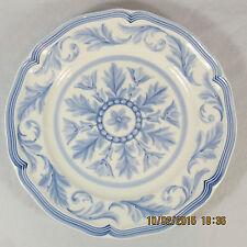 Villeroy Boch Casa Azul Salad Plate white blue leaf plume center & rim scallop