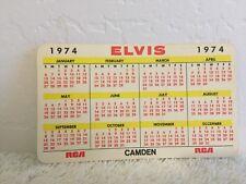 ELVIS PRESLEY RCA 1974 PROMO POCKET WALLET CALENDAR