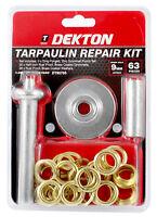 Dekton 63pc Tarpaulin Repair Kit Groundsheet Cover Repair Kit Tool Eyelet Gromme