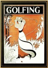 Poster Golf by Aubrey Beardsley Drive Game FAKS 193 **