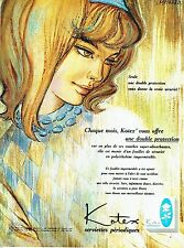 PUBLICITE ADVERTISING 126  1964   Kotex  serviettes périodiques