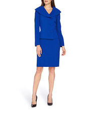 NWT Tahari ASL Petite Asymmetrical-Three-Button Skirt Suit, Size 12P