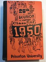 Princeton University 25th Reunion Class of 1950 in 1975 Yearbook Ivy League