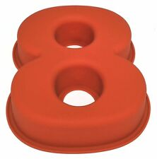 NR 8 X Numbers Shaped Silicone Birthday Cake Mould Kids Baking Tray Sugarcraft