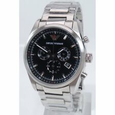 Emporio ARMANI Ar6050 Mens SPORTIVO Silver Stainless Steel Watch 43mm