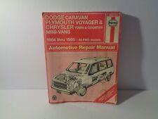 HAYNES 30010 1984-1995 Dodge Caravan Plymouth Voyager Chrysler T&C Mini Vans