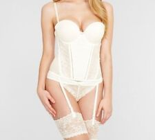 Elastane Strap Basques & Corsets for Women with Suspenders
