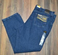 Lee Regular Fit Men's Straight Leg Big & Tall Denim Jeans 46 by 30 jeans