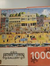 1000 Piece Jigsaw Puzzle - On the Boardwalk - Hometown Gallery Used Complete
