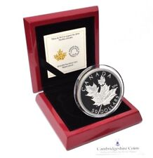 2014 Fine Silver High Relief Canada Maple Leaf 50 Dollar Coin Box COA 157 grams