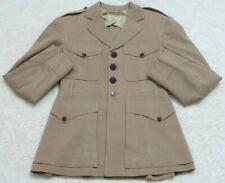 Military Dress Suit Jacket Coat Mens Beige Lined Blazer 4 Button S.W. Rice 1944