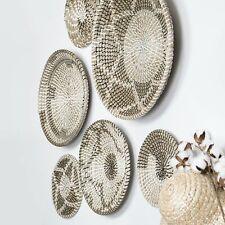 Wall basket décor Large Wicker hanging baskets woven basket wall art set of 6