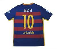 Barcelona 2015-16 Authentic Home Shirt Messi #10 (Excellent) L Boys