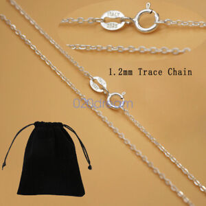 Real Solid 925 Sterling Silver Chain Necklace All Sizes Stamped .925 Italy Lady