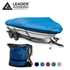 Leader Accessories 300D Trailerable V-hull Tri-hull Boat Cover 14'-16' Beam 90''