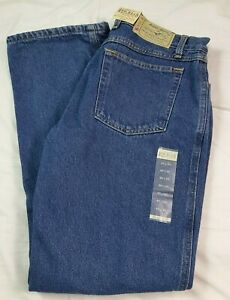 Red Head Mens Jeans Flannel Lined Blue Denim 32x32 NWT NEW Dark Stone