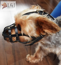Light leather Dog Muzzle for Chihuahua Yorkshire Terrier Mini Pitcher  & Other