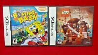 Lego Pirates + Spongebob Boating Bash - Game Lot Nintendo DS Lite 3DS 2DS Tested