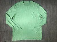 J Crew Adult Mens Medium Long Sleeve Tee T Shirt Green Cotton 64737