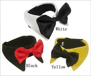 Dog Cat Pet Bow Tie Bowknot Neck Accessory Puppy Dickie Necktie Necklace Collar