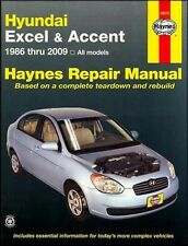 Haynes Hyundai Excel Accent 1986-2009 Repair Manual WORKSHOP SERVICE