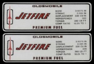 OLDSMOBILE 1967 CUTLASS 320 HP Valve Cover Decal, Olds