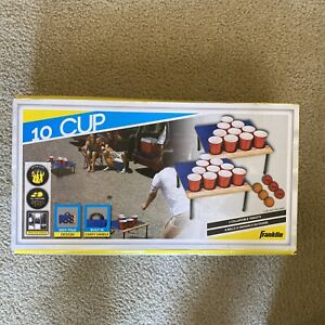 Franklin Sports Fold N Go 10 Cup Portable Beer Pong Tailgate Table. 52400. BNIB.