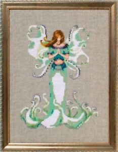 "COMPLETE XSTITCH MATERIALS ""ANGEL WHITE TRUMPET NC246"" by Nora Corbett"