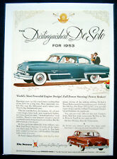 Werbeanzeige Ad 1953 DeSoto  the Distinguished DeSoto... (USA)