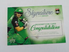 2017 TAP N PLAY BBL BIG BASH REDEMPTION SIGNATURE CARD LUKE WRIGHT MELB STARS