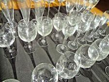 67x Vintage Sektgläser Gralglas Kristall Glas Design set collection Made Germany
