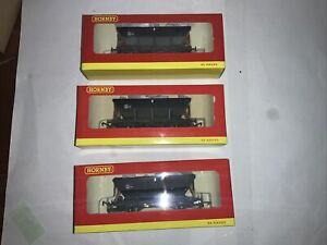Hornby Unknown HEA Coal Hopper Wagons  pack Of Three Different Numbers Weathered