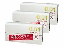New Sagami Original 001 5pieces x3box Ultra Thin Condom 0.01mm Import Japan f/s