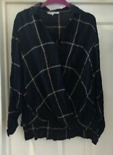 Peacocks Black Gathered Blouse Top Size 14