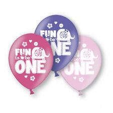 6x en Rosa 1º Globos de Cumpleaños Diversión para 1 Decoración Fiesta Niña