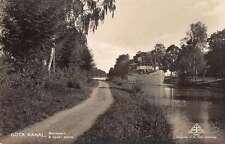 Gota Kanal Sweden Scenic View Real Photo Antique Postcard J49488