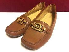 MICHAEL Michael Kors Women's Black Leather Flats Women's SZ 7.5 M Shoes Loafer