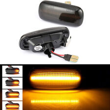 Dynamic Amber LED Side Marker Turn Signal Light Fit For Audi A4 S4 B6 B7 A6 C5