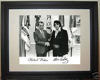 Richard Nixon meets Elvis Presley Autograph visits White House Framed Photo