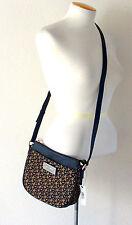 NWT DKNY Heritage Saffiano PVC Crossbody/Shoulder Bag Gold/Black Jacquard $178