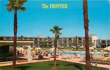 LAS VEGAS NV FRONTIER HOTEL/CASINO SWIMMING POOL CHROME POSTCARD