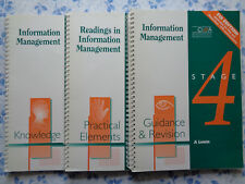 Information Management. Stage 4. Set of 3 Books. 5th Edition. CIMA 1998. Size A4