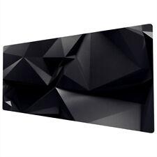 90x40cm Extra Large Xxl Mouse Mat Pad Full Desk Pc Black Geometric Cool Uk