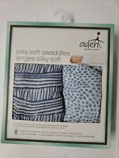 Aden by Aden + Anais Silky Soft Swaddles - Pack of 2 - Blue Geo