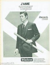 PUBLICITE ADVERTISING 115  1966  DIOLEN costume BAYARD JEAN -CLAUDE PASCAL