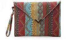 Clutch Handtasche bunt mehrfarbig klein mittel gemustert Retro Vintage Style