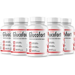 (5 Pack) Official Glucofort Advanced All-Natural Blood Sugar Support, 5 Bottle